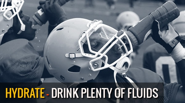 Hydration tips for football players and athletes